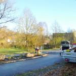 November 2014 | Freiwillige bei der Neugestaltung der Verkehrsinsel