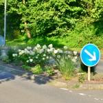 August 2015 | Willkommensgruß des Dorfes für den Durchgangsverkehr
