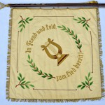 Rückseite | Fahne des Männergesangvereins Wiedklang
