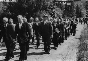 Festumzug des ehemaligen Männerchors Wiedklang Repro: Wilfried Klein