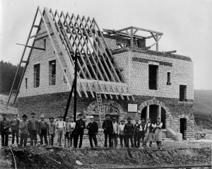1911 | Bau des Bahnhofs Repro: Wilfried Klein