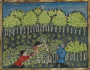 1440 | Jäger fällen Bäume zur Herstellung von Fallen The J. Paul Getty Museum - Los Angeles Mit freundlicher Genehmigung des Getty's  Open Content Program