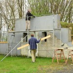 April 2017 | Die marode Fassade wird verschalt