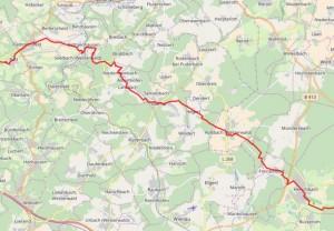 Adolf-Weiß-Weg (Hauptwanderweg II)  Etappe 03: Flammersfeld-Herschbach Karte: Westerwaldverein