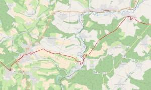 Haupwanderweg Plus Bad Honnef-Koblenz Abschnitt: Flammersfeld-Schöneberg Karte: Westerwaldverein
