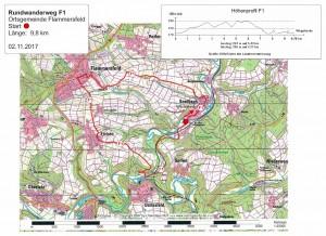 Rundwanderweg F1 | Start: Alter Bahnhof in Seelbach Karte: LVermGeo RLP