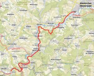 Wiedweg | Etappe 03 Altenkirchen-Oberlahr Karte: Outdooractive