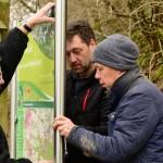 Februar 2018 | Aufstellen der Infotafel in Bettgenhausen